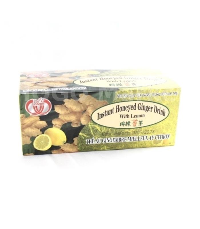 Instant honeyed ginger drink with lemon