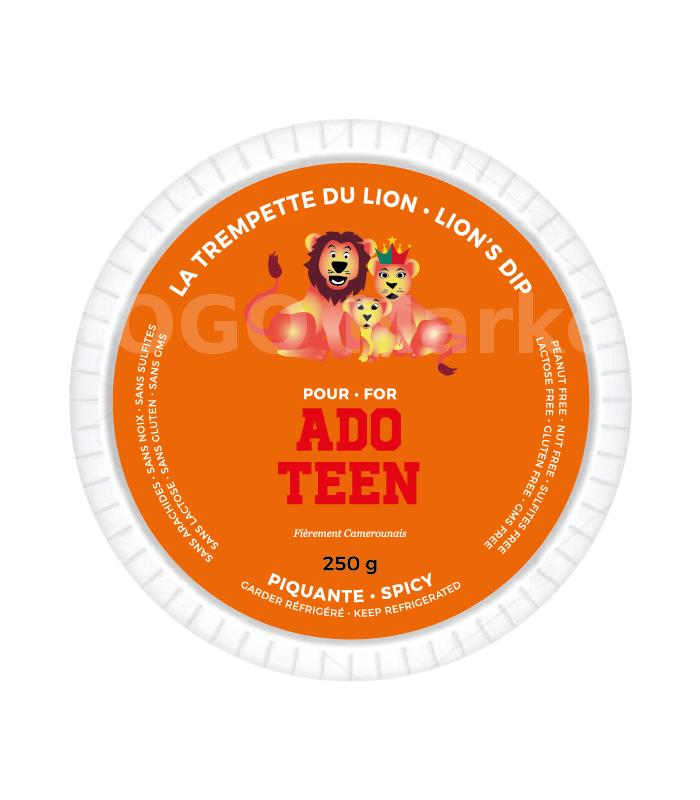 Lion's dip for teen