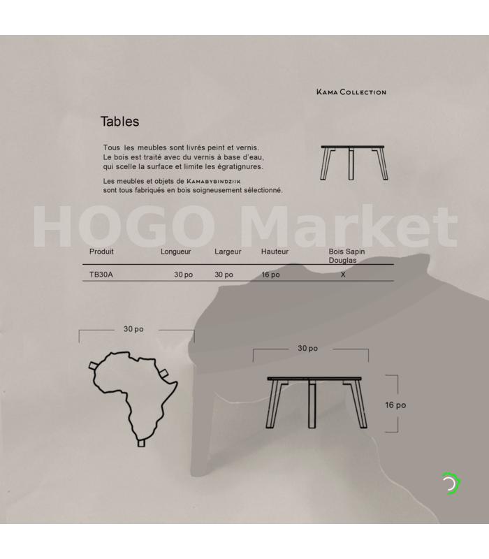 Table Afrique marron - Kamabybindziik