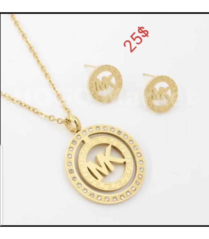 Ensemble plaqué-or de marque pour femme