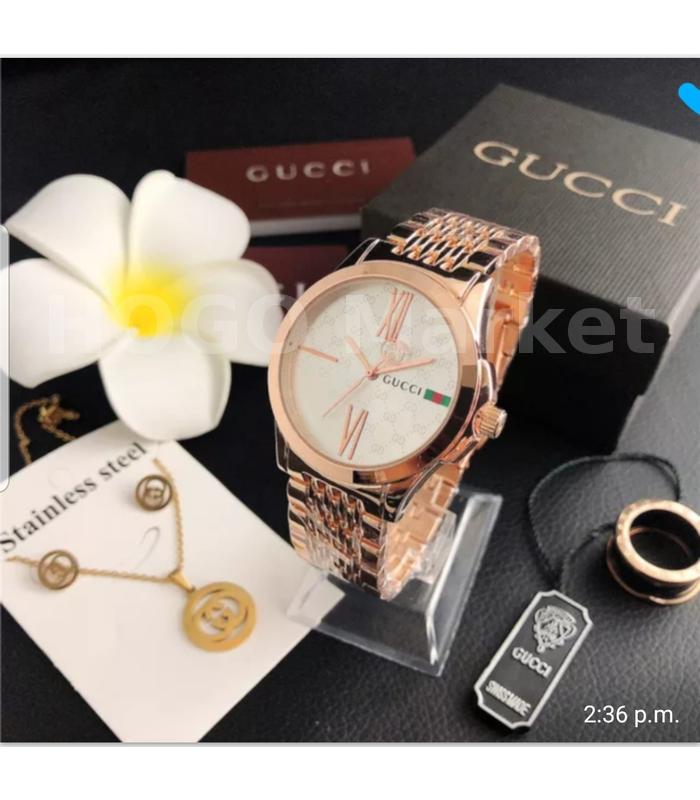 Montre plaqué-Or Gucci rose